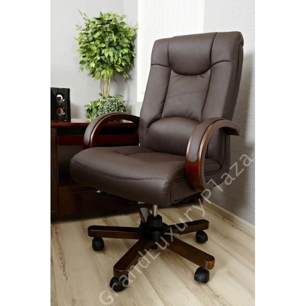 Sedie Da Ufficio Marrone.Poltrona Sedia Presidenziale Direzionale Pelle Ufficio Studio