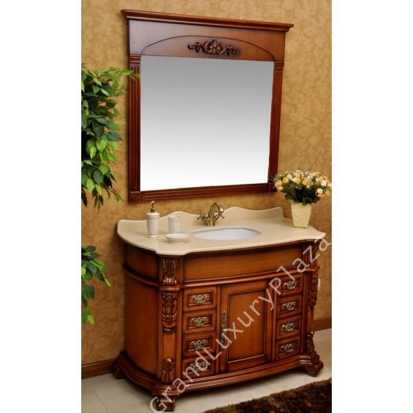 mobile-bagno-arredo-bagno-classico-legno-massello-top-marmo-lavabo ...