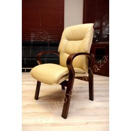 Confortevole sedia conferenza Eko line crema