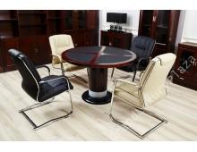 Tavolo ufficio tondo da conferenza serie Colombo 120CM