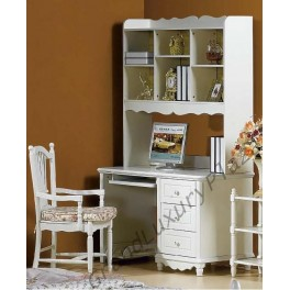 Scrivania in bianco con libreria sovrapposta princess 815 grand luxury plaza - Scrivania con libreria ikea ...