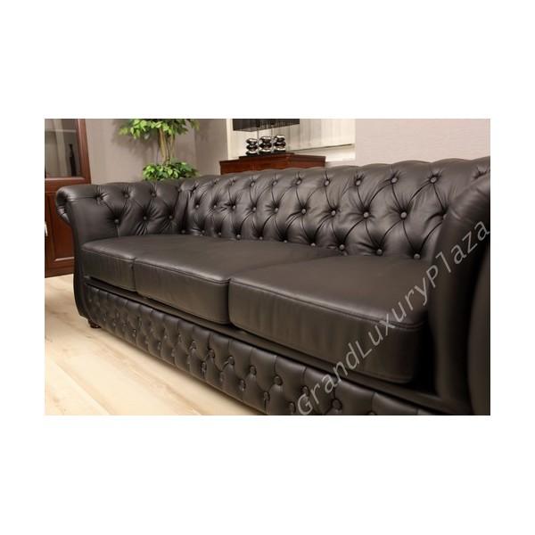Salotto divano poltrone sof in pelle per ufficio studio casa salone - Smontare divano poltrone sofa ...