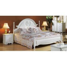Letto Bianco 150 x 200 Serie PRINCESS 805
