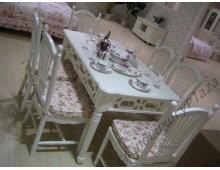 "Tavolo da pranzo bianco  serie ""Princess""828"