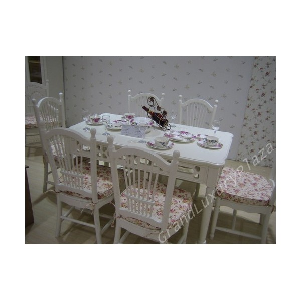 Tavolo da pranzo bianco serie princess 828 grand luxury - Tavolo da pranzo bianco ...