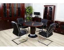 """Tavolo ufficio tondo da conferenza serie """"Colombo 80"""" G 01"""