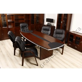 Tavolo da Sala Riunione Conferenza SELECTA D08 2.4M Nero