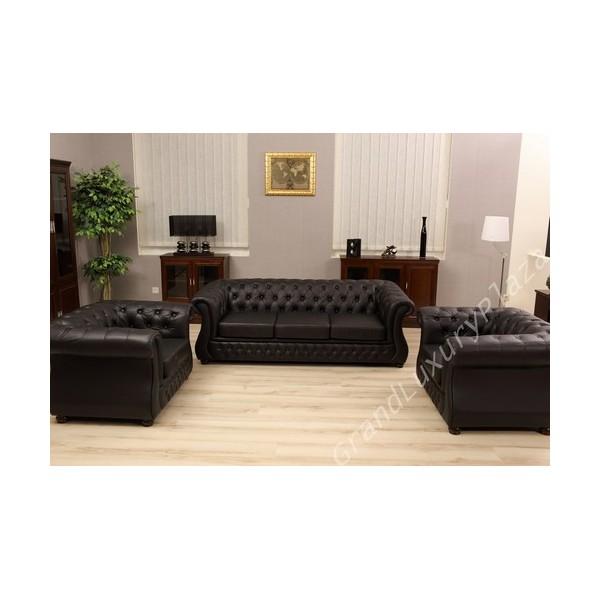 Salotto divano poltrone sof in pelle per ufficio studio casa salone - Tintura per pelle divano ...