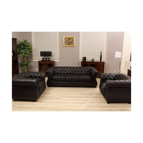Amazing poltrona singola chester nera with divano ufficio for Divano ufficio