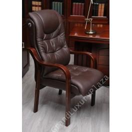 Sedia confortevole da conferenza  serie GARANTE marrone
