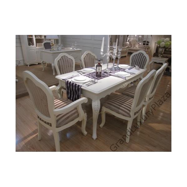 Tavolo da pranzo serie bella 936 grand luxury plaza - Tavolo da pranzo bianco ...