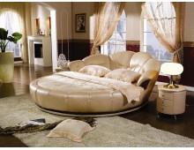 Letto tondo per camera da letto + materasso +rete+comodini