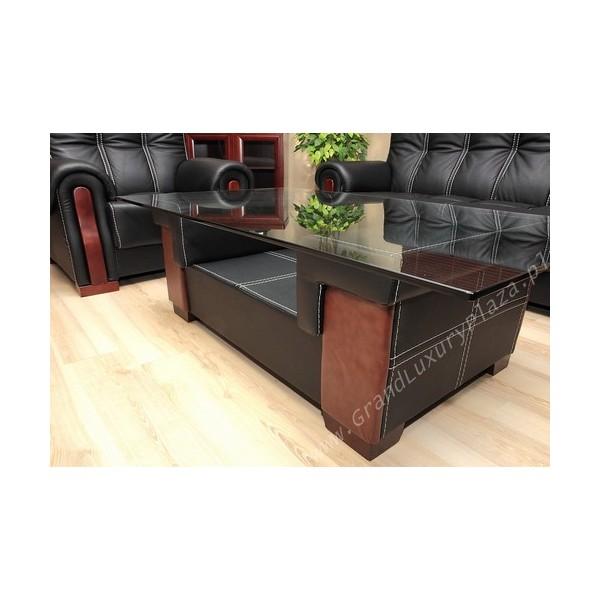 Tavolino In Pelle.Tavolino Pelle Vetro 601 Grand Luxury Plaza