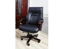 Sedia da ufficio in pelle MANAGER B3048 NERA