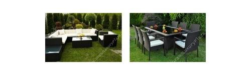 Tavoli e set da esterno in rattan sintetico intrecciato a for Mobili per giardino economici